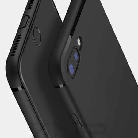 Zwart Luxe iPhone siliconen hoesje
