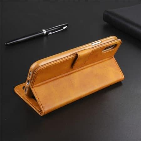 Leren wallet hoesje voor iPhone